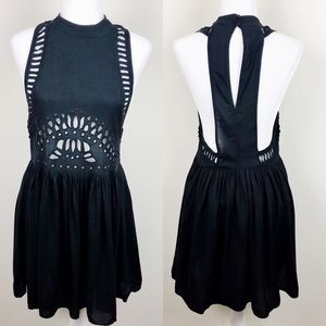 H&M Black Embroidered Dress